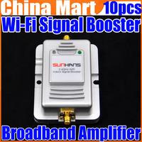 2W Wifi Wireless Broadband Amplifier 2.4Ghz Power Range Signal Booster Router Free Express 10pcs/lot