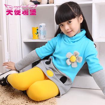 Children's clothing female child autumn 2012 one-piece dress child basic shirt girl autumn outerwear