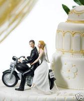 Motorcycle Get Away Fun Wedding Cake Topper