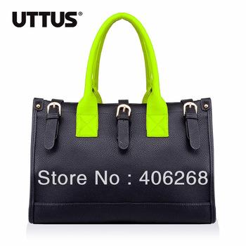 free shipping  New Arrival Uttus 2013 fashionable neon color high quality  pu leather ladies' handbag shoulder bag sling bag