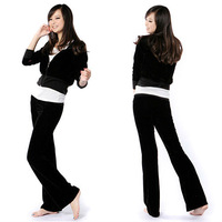 Hot Popular! Womens Comfy Soft Velour Tracksuit Hoodie Sweat Set Drawstring Lounge Pants 3790