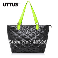 free shipping  UTTUS fashion Space cotton   neon color  eiderdown ladies' handbag shoulder bag