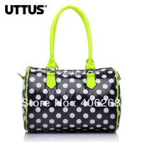 free shipping UTTUS New Arrival neon Dot Candy color  space cotton  small cylinder women's handbag shoulder bag sling bag