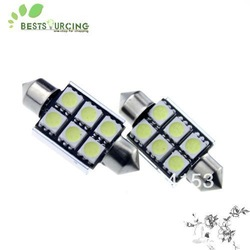New! ! Free shipping 8 X 6 SMD 5050 3chips 36mm 6 led Canbus no error Festoon dome Lamp Interior Lighting(China (Mainland))