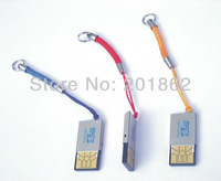 Free Drop Shipping Single Slot USB 2.0 Micro SD SDHC T-Flash TF Mini Trans Flash Mobile Phone Memory Card Reader Writer