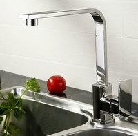Polished Chromed Kitchen Sink Bathroom Basin Sink Mixer Tap Swivel Faucet   FKK-103