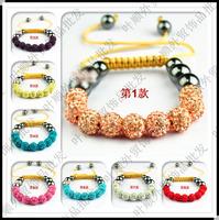 Hot Sale! Shamballa Bracelet 9 Clay Disco Balls Shambala Bracelets Jewelry Gift