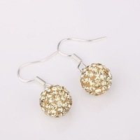 Shamballa Disco Ball Beads Earrings brilliance Crystal T-Paris Shambhala earring hot sale