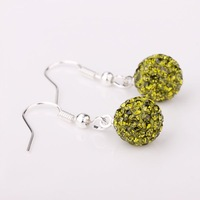 Shamballa Disco Ball Bead Earrings Rhinestone Crystal New T-Paris Shambhala earring free shipping