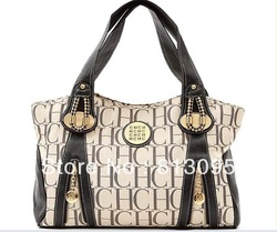 Famous Design CH Handbag, Women&#39;s shoulder bag, Canvas + PU Purse Totes 2313(China (Mainland))