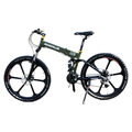 Bicycle one piece wheel folding mountain bike g4 folding bicycle double disc g4(China (Mainland))