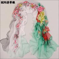 Минимальный заказ = 5usd! плед классический шарф женщин шифон сетки Шелковый шарф леди мягкий шейный платок шаль sc0258