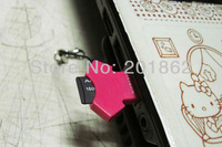 Cute USB 2.0 Micro SD SDHC T-Flash TF Mini Trans Flash Mobile Phone Memory Card Reader With Retail Package