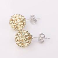 wholesale Shambhala Earrings brilliance Crystal Disco Ball Beads mix order sham earring jewelry