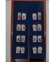 Free Shipping Lovely Maneki Neko Fabric Door Curtain D2909