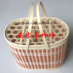 Egg basket fruit basket arbutrus vegetable basket bamboo packaging bamboo basket(China (Mainland))
