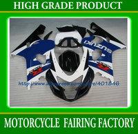 Black blue white GSX R600/750 2004 2005 plastic body part anniversary Free shipping SUZUKI ABS K4 racing fairings kit