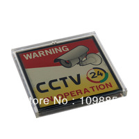 3.15 x 3.15in Solar Powered Flashing Warning Video Recording CCTV Sign