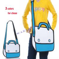 Free shipping! For top cartoons bag big 3d three-dimensional shoulder bag messenger bag handbag women's cuttled bag fashion bag
