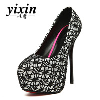 2013 ultra high heels single shoes reticularis sweet women's thin heels shoes platform