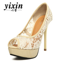 2013 sweet lace high-heeled shoes sandals open toe thin heels shoes women's platform shoes