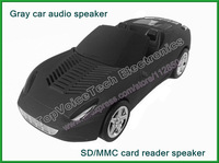 50pcs Original fashion runabout car shaped speaker HX-55S,convertible car audio amplifier support SD/MMC card,FM radio