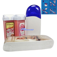 Free Shipping Pro Roll-On Refillable Depilatory Heater Wax Waxing Paper Hair Removal Set,HN-HairRemoval01-03set