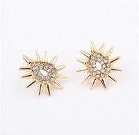 Min.order is $15(mix order)fashion Alloy triangle Punk Stud Spike Earrings
