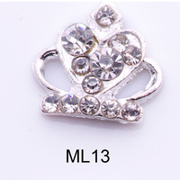wholesale nail art crown 3D decoration 50pcs/lot DIY nail jewelry alloy best shining rhinestone free shipping