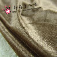 Clothes diy noble khaki light-sensitive soft gold velvet cheongsam outerwear female sportswear skirt fabric