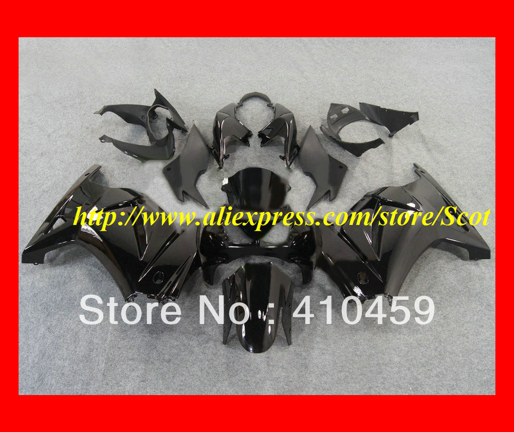 2013 Top whole flat gloss black Fairing kit for KAWASAKI Ninja ZX250R 08 09 10 11 12 ZX 250R 2008 2012 EX250 08-12 2008-2012(China (Mainland))