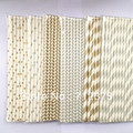 gold-silver in set paper straws free shipping Party straws Environmental protection Event & Party Supplies(China (Mainland))