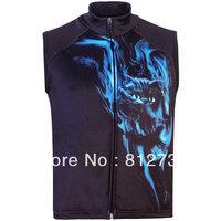 Free Shipping,Hot Sale Men's 3D Animal Wild Cat Printed Gothic Punk Casual Fleece Bodywarmer Gilet Vest, Vest S-5XL,Plus Size