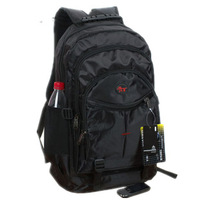 Black big capacity male backpack bag travel bag backpack school bag-Free shipping