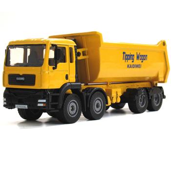 Alloy engineering car model toy dump-car transport vehicle birthday gift