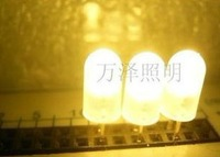 Free shipping 1000 pieces / lot round head warm Fog astigmatism white Low light degradation 5mm 1000-1400mcd LED