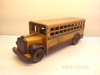Free shipping Cut small wooden school bus Hot seller Photo props