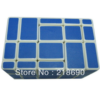 Irregular 3x3x5 Brain Teaser Magic IQ Cube -Blue- Free Shipping  Speed Puzzle Magic Cube