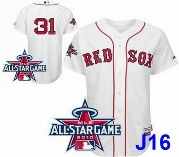 Boston Red Sox 31 Jon Lester White 2010 All-Star Patch Jersey baseball jersey, soccer jersey, sports jersey(Mix orders)