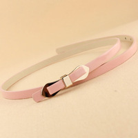 Multi-layer 2013 multicolour bow belt thin all-match japanned leather belt strap female