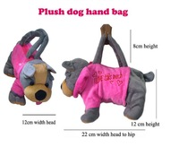 2013 new arrival ! fashion Children's handbag / plush Animal Bags / Cartoon dog Mini Handbags GJW-888