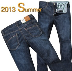 Of 2013 authentic brand jeans straight waist fit men jeans(China (Mainland))