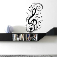 Free Shipping Notes music piano musical instrument wall stickers