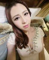 Ladies sexy rhinestone luxury V-neck embroidery flower lace one-piece dress elegant formal dress