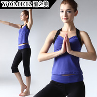 Yoga clothes set slim yoga clothing female sleeveless vest dance clothes