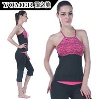 Yoga clothes set moisture wicking sports fitness yoga clothing f0115 p0613