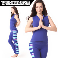 Yoga clothes autumn and winter yoga clothing set vest sportswear f0421 p0508