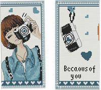 Cross stitch wallet cross stitch wallet long design female cutting