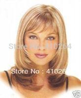 $wholesale_jewelry_wig$ Wholesale free shipping Stunning Blonde wig Medium mezcla peluca Mix colour wigs