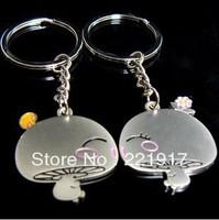 Min. Order is $10 ( Can Mix order )!    Curtilage love couple keychains mushroom mushroom head couple